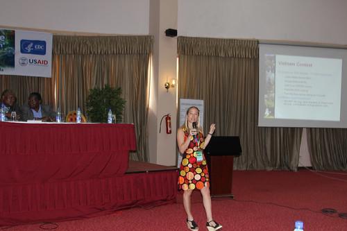 Presenting in Kampala
