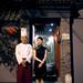 Chef and waitress standing outside 38 Nanchang Lu by Jing Theory