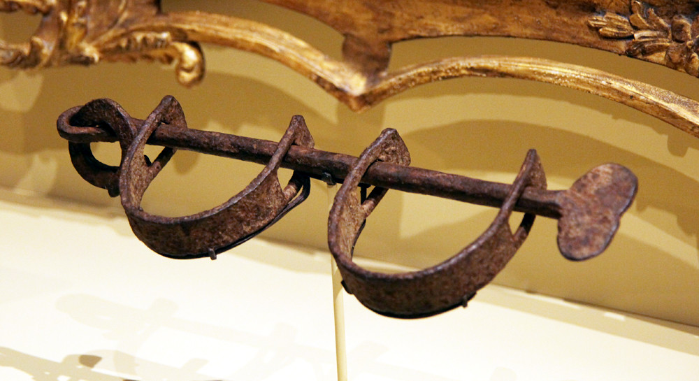 Slave manacles used at Monticello - Smithsonian Museum of American History - 2012-05-15
