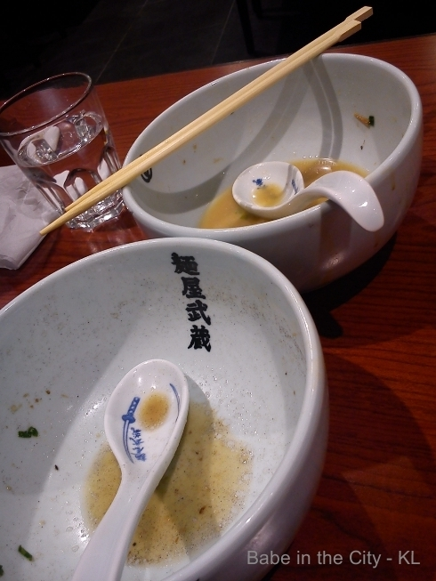 Menya Musashi Empty bowls
