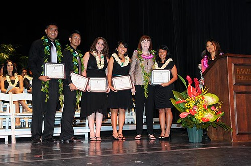 <p>The UH Manoa nursing undergraduate class officers with Dean Mary Bolan and Department Chair and Associate Professor Clementia Ceria-Ulep</p>