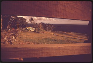 House in rural district along Highway 36 near Hana. Rural districts are composed of low density residential lots of one building per half acre, November 1973