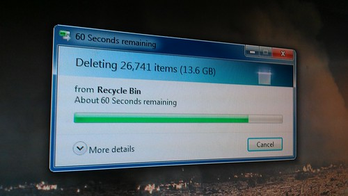 Guess I should empty the recycle bin more often by christopher575