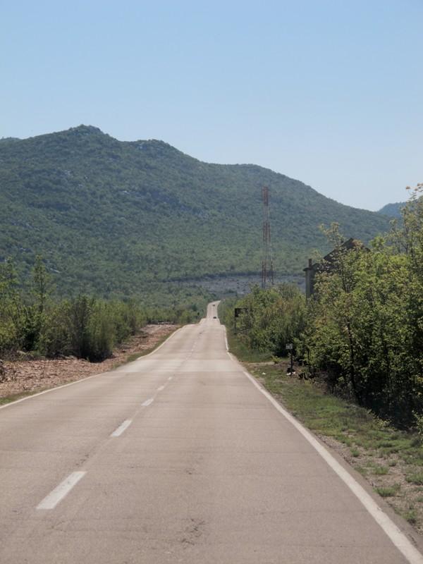 Sur la route dans l'arrière pays croate