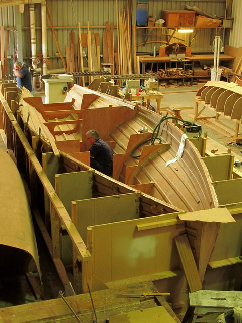 Fast plywood trimaran built in Adelaide Australia by Duck Flat Wooden Boats