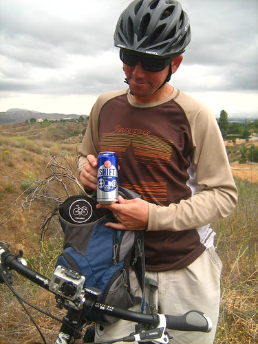 mid-ride libation by cyclotourist