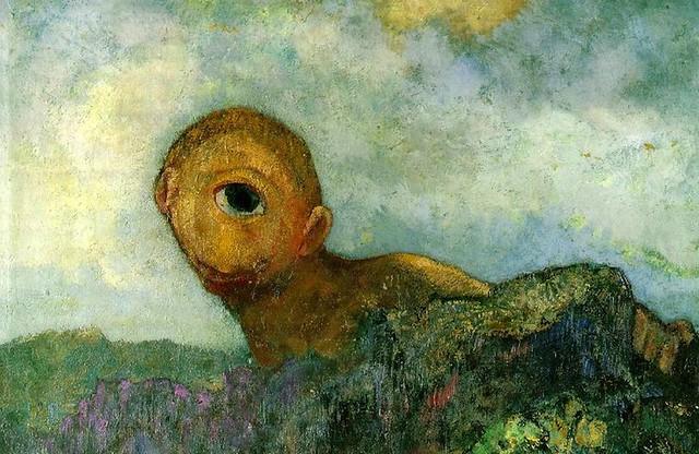 [ R ] Odilon Redon - Cyclops (1904) - Detail