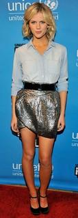 Brooklyn Decker Denim Shirt Celebrity Style Woman's Fashion
