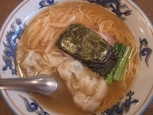 ra120604松波ラーメン店 ワンタン麺