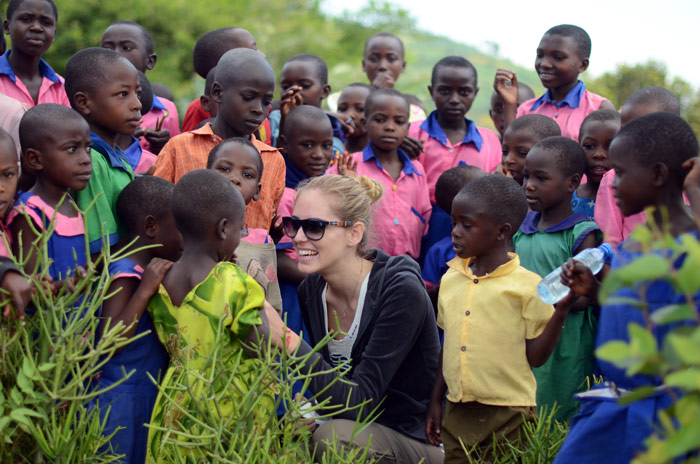 Boys and girls from Uganda