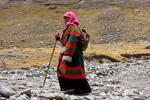 Tibetan pilgrim.