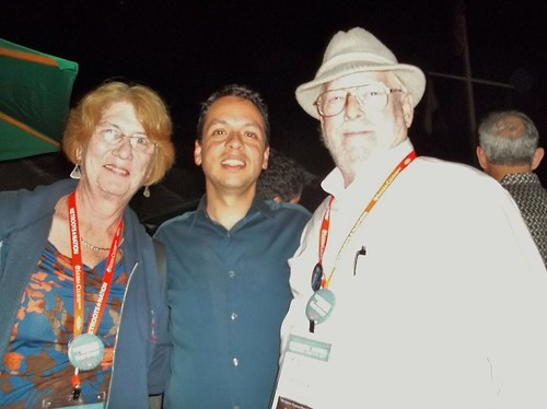 Marcos, Delia and I at Daily Kos 10th Anniversary Party in Providence.