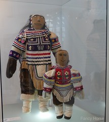 Doll exhibit at First Nations Cultural Center