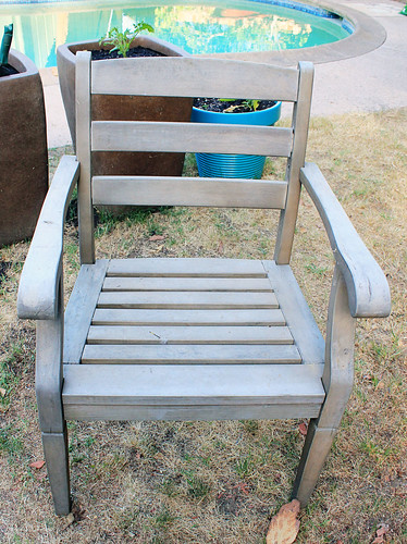 Dirty and weathered Smith and Hawkin chair