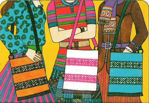 vintage crochet bags