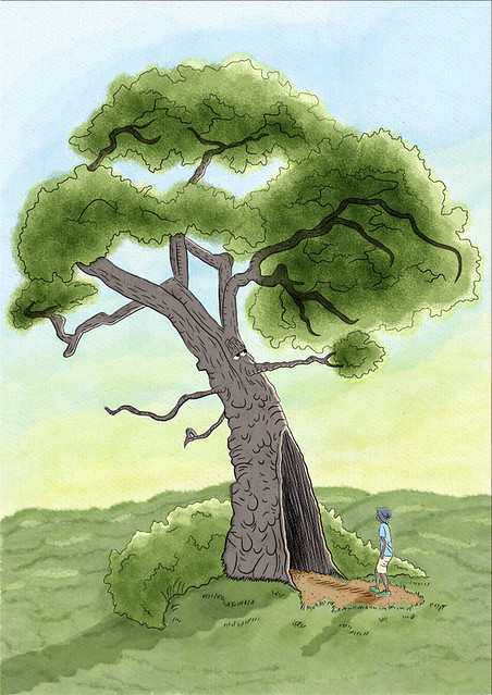 Boy Meets a Yawning Tree