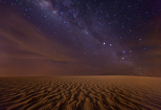 The Red Planet.  Milky Way over Jericoacoara by Michael Anderson