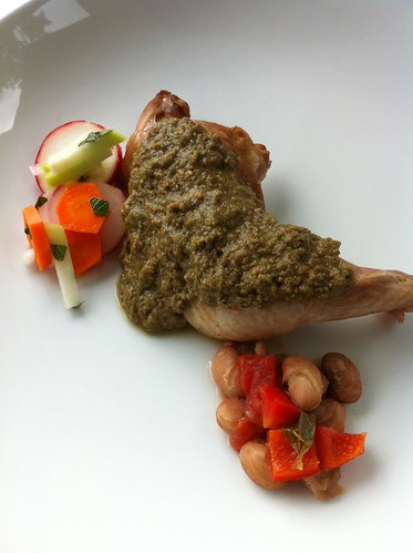 Pheasant in Green Mole