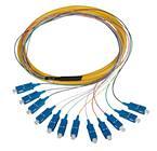 SC/PC fiber optic fanout pigtail