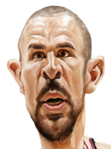 digital caricature of Jason Kidd - 5