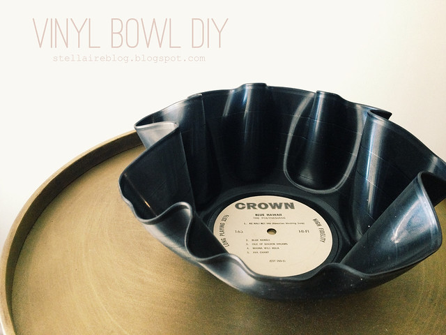 vinyl bowl diy