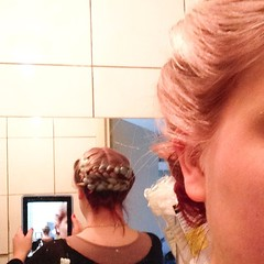 What my hairlooks like braided and pinned up. #hairadventures I'm off to #EFF