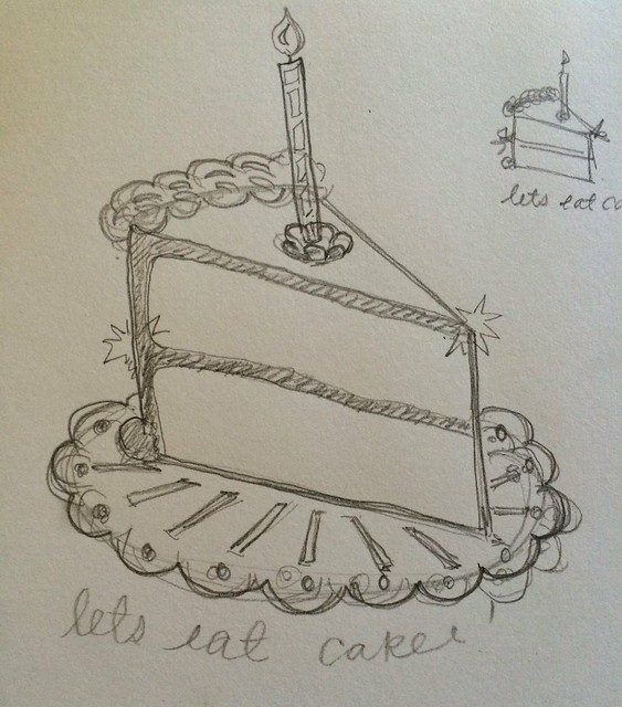 Let's Eat Cake! Preliminary Sketches
