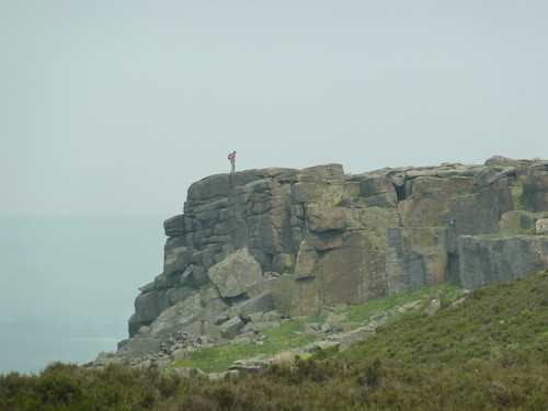 A Walker on Stanage Edge