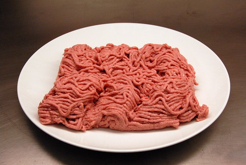 Boneless lean beef trimmings actually looks like this.