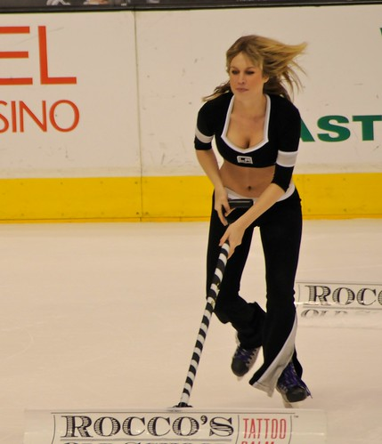 LA Kings Blonde Ice Girl, vs. St. Louis, March, 2012