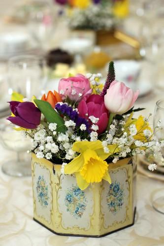 Vintage Tin Vase