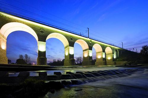 Puente ferroviario en Boleslawiec (Polonia)