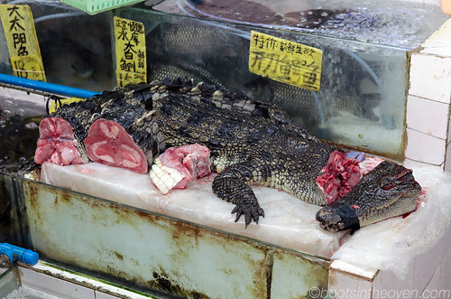Crocodile meat for sale