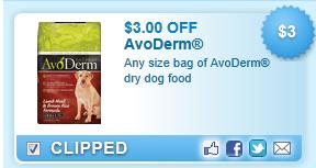 Avoderm Dry Dog Food  Coupon