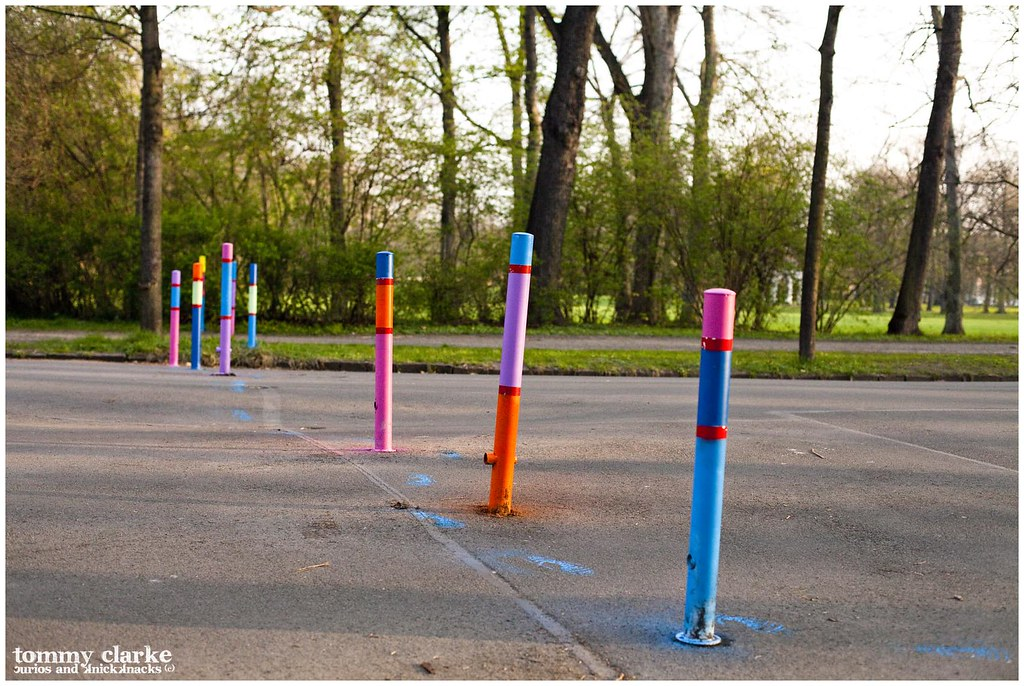 row of posts