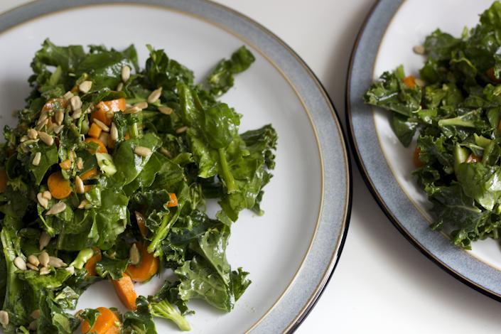Watercress, Spinach, Kale Salad.