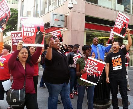 Washington DC Verizon Rally