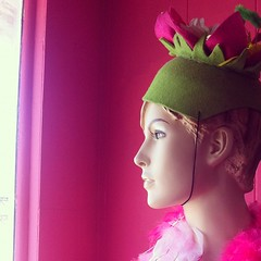 in the pink #pink #green #mannequin #hat #instagram #iphone