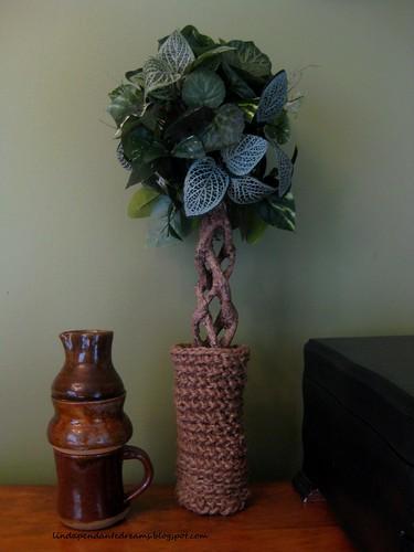 Croched Jute Twine Vase 002.1