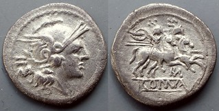 84/3 Sestertius ROMA Rome Dioscuri monogram under horses. Of the greatest rarity. #1205-11
