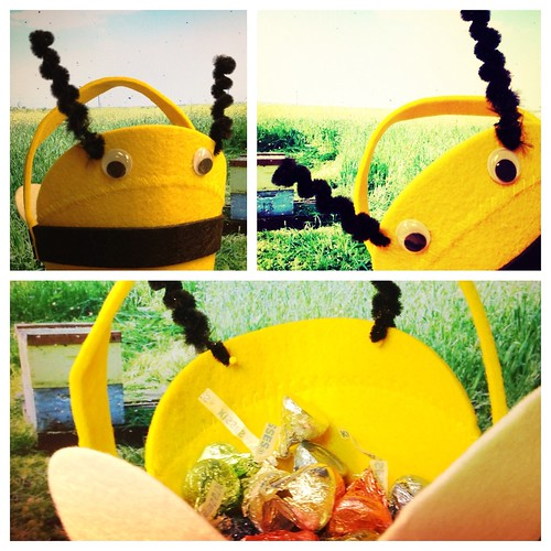 Cute Easter bee basket