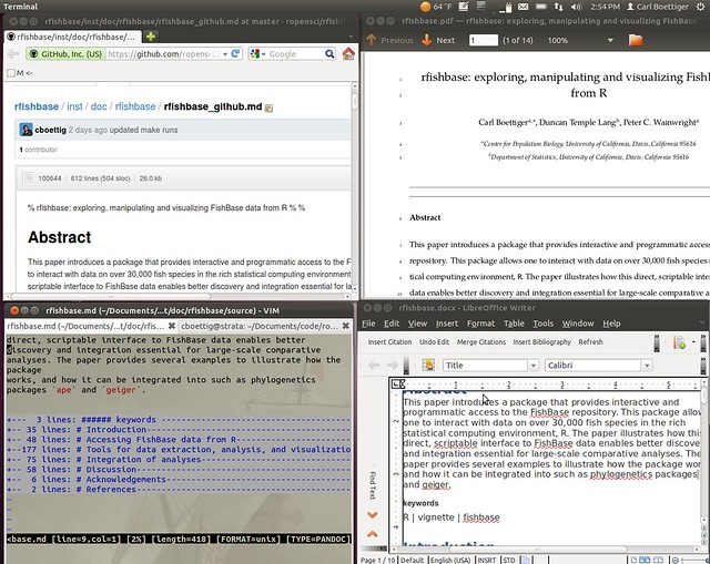 Writing reproducibly in the open with knitr