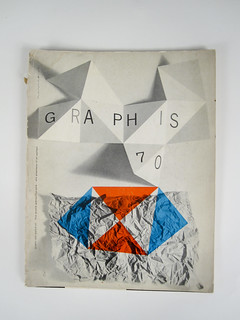 Graphis #70 Cover designed by Rudolph De Harak. 1957