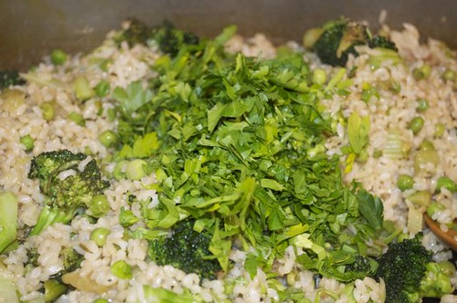 green rice/parsley