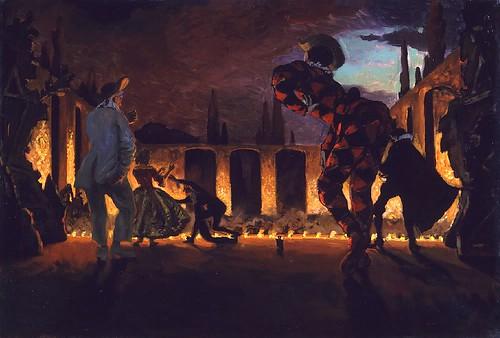 Benois, Alexandr (1870-1960) - 1906 Italian Comedy by RasMarley
