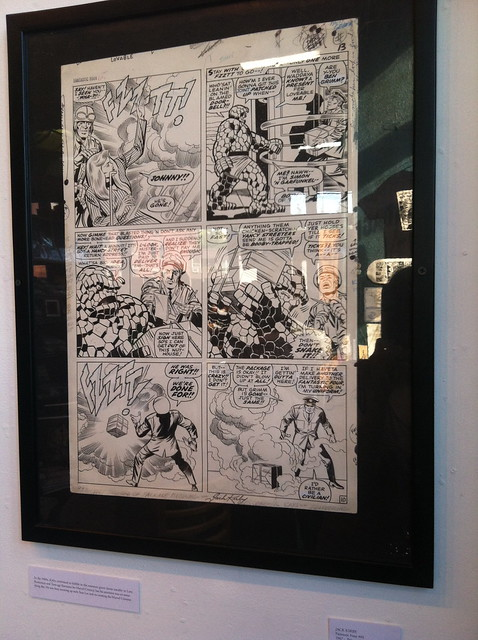 Jack Kirby original art at the Fantagraphics Bookstore & Gallery
