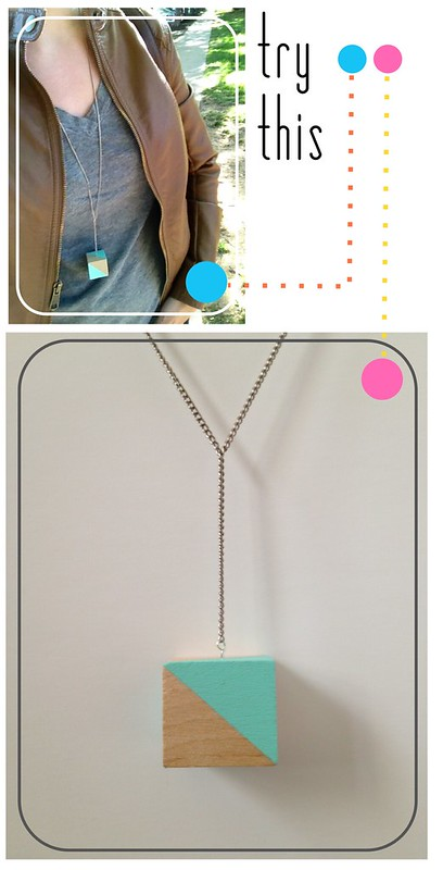 Colorblock Necklace Graphic