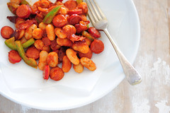 butterbeans with bacon & cabanossi-4