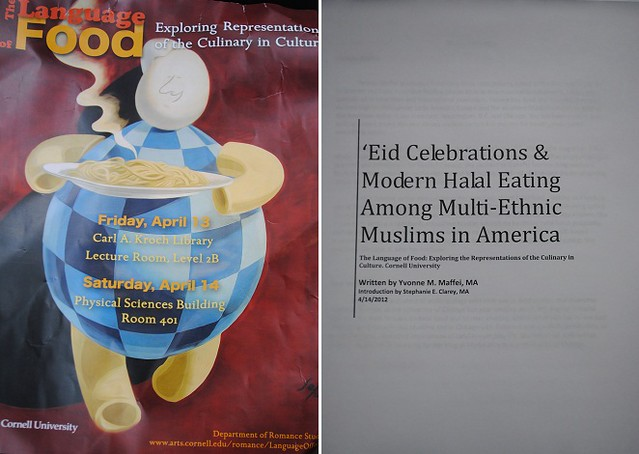 Language of Food and my paper on 'Eid Celebrations