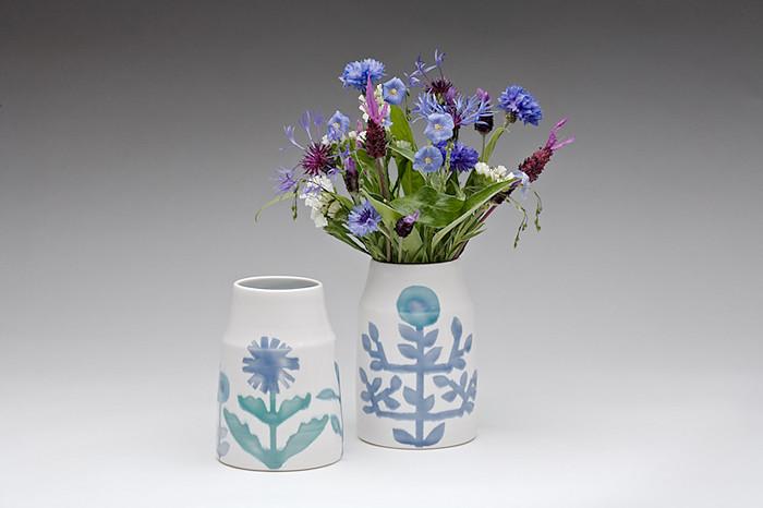dahlhaus blue cornflower vases